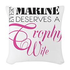 MarineTrophyWife Woven Throw Pillow
