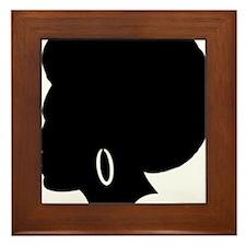 Woman Afro (lt) Framed Tile