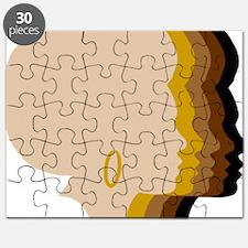 Women Afro Five Tones Puzzle