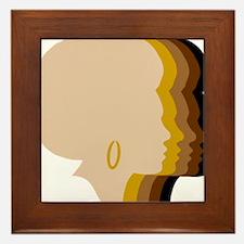 Women Afro Five Tones Framed Tile