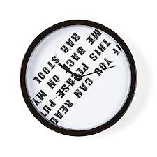 barstool Wall Clock