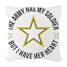 SoldiersHeart1 Woven Throw Pillow