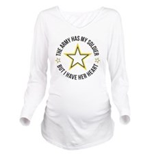 SoldiersHeart1 Long Sleeve Maternity T-Shirt