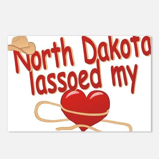 north-dakota-lassoed Postcards (Package of 8)