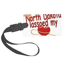 north-dakota-lassoed Luggage Tag