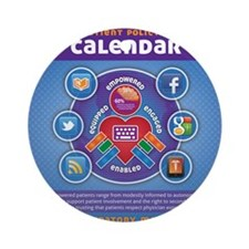 e-Patient Calendar Round Ornament
