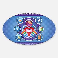 e-Patient Calendar Sticker (Oval)