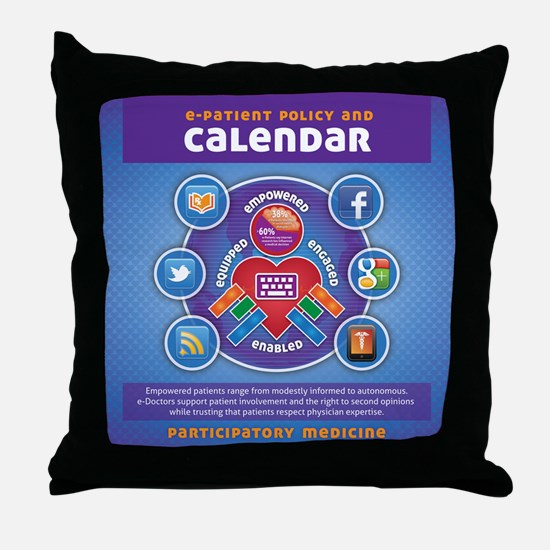 e-Patient Calendar Throw Pillow