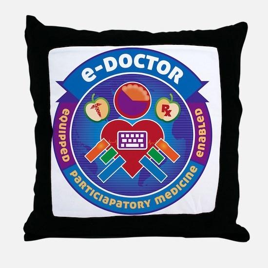 e-Doctor Badge Throw Pillow