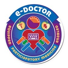 e-Doctor Badge Round Car Magnet