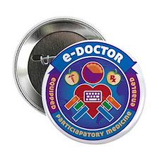 """e-Doctor Badge 2.25"""" Button"""