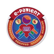 e-Patient Badge Round Ornament
