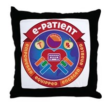 e-Patient Badge Throw Pillow