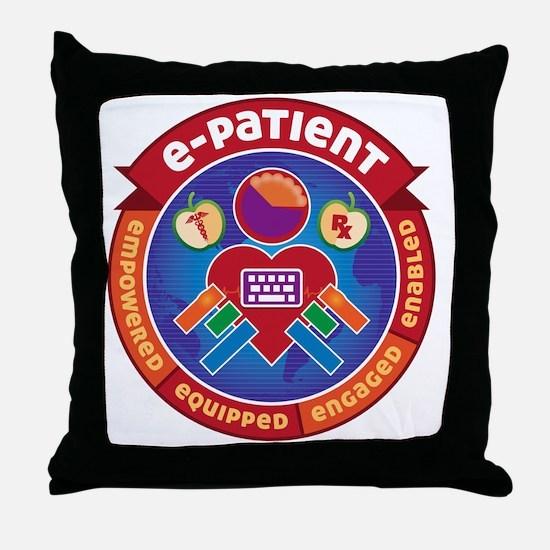 e-Patient Badge Throw Pillow