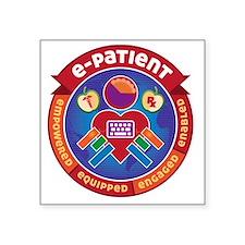 """e-Patient Badge Square Sticker 3"""" x 3"""""""