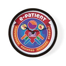e-Patient Badge Wall Clock