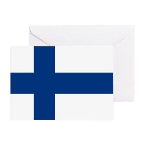 2000px-Flag_of_Finland Greeting Card