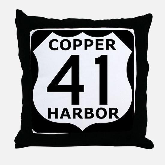 copper harbor 41 Throw Pillow