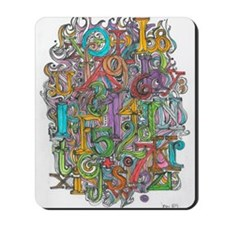 Alphabet Soup Mousepad
