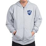 SPJ Shield - No Text Zip Hoodie