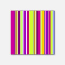 "Stripes Square Sticker 3"" x 3"""