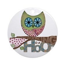 Scrapbooking is a Hoot Round Ornament