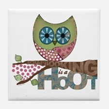 Scrapbooking is a Hoot Tile Coaster