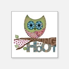 """Scrapbooking is a Hoot Square Sticker 3"""" x 3"""""""