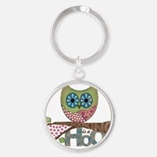 Scrapbooking is a Hoot Round Keychain