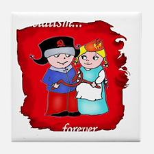 love is parody (red) tshirt Tile Coaster