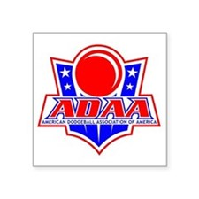 "Dodgeball-ADAA Square Sticker 3"" x 3"""