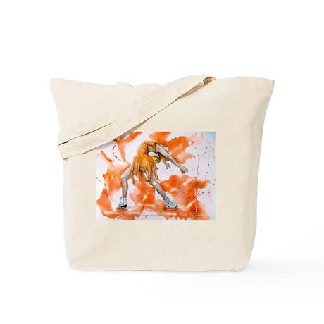 Orange Crush Ice Skater Tote Bag