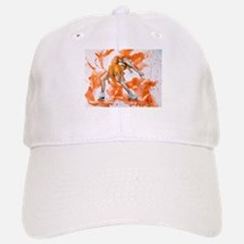 Orange Crush Ice Skater Baseball Baseball Cap