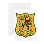 Wind River Game Warden Greeting Cards (Package of