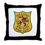 Wind River Game Warden Throw Pillow