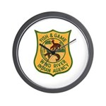 Wind River Game Warden Wall Clock