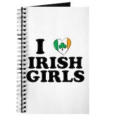 I Love Irish Girls Heart Journal