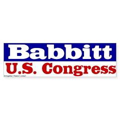 Paul Babbitt for Congress Bumper Bumper Sticker