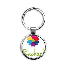 Rachael-Heart-Flower Round Keychain