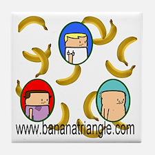 Raining bananas-white-lite-t-shirt Tile Coaster