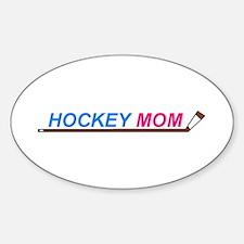 Hockey Mom Oval Decal