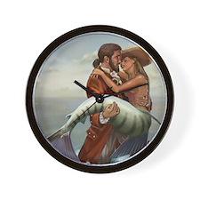 pirate and mermaid Wall Clock