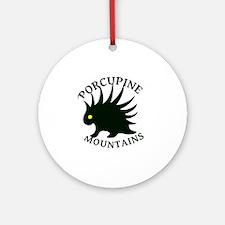 PorcupineMountains Round Ornament