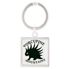 PorcupineMountains Square Keychain