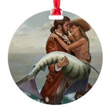 pirate and mermaid mousemat Ornament