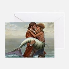 pirate and mermaid mousemat Greeting Card