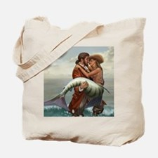 pirate and mermaid mousemat Tote Bag
