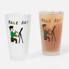 Make Art Everyday Drinking Glass