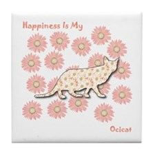 Ocicat Happiness Tile Coaster