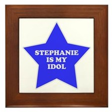 Stephanie Is My Idol Framed Tile